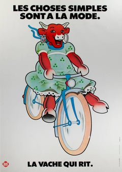 """La Vache Qui Rit Laughing Cow Cheese,"" an original Lithograph Poster"