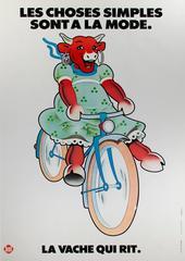 La Vache Qui Rit Laughing Cow Cheese (color lithograph vintage poster)