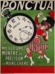 Ponctua (Watch) Advertisement Vintage Poster