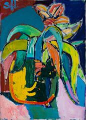The Banana Plant (neo expressionist oil on canvas)