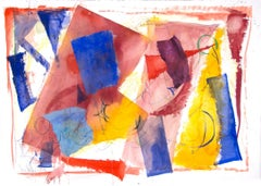 """Color Weights,"" Mixed Media (watercolor paper & India Ink) signed by Dan Muller"