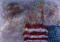 """Grand Finale: Statue of Liberty"" an Pastel & Watercolor signed by David Barnett"