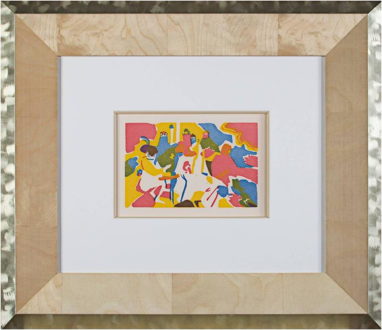 Orientalisches from Klange series (original color woodcut in three colors) - Print by Wassily Kandinsky