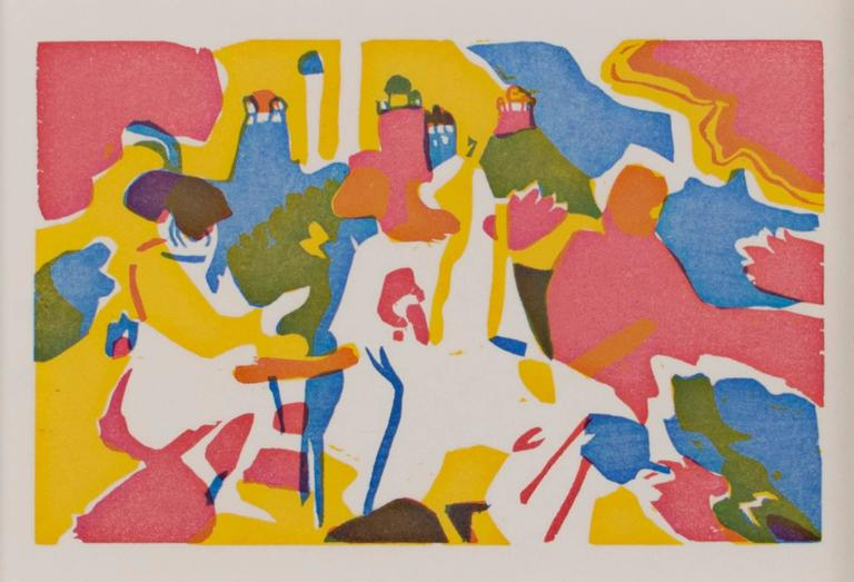 Wassily Kandinsky Abstract Print - Orientalisches from Klange series (original color woodcut in three colors)