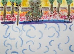 """""""Homage to David Hockney - Sun & Water Spots on My Glasses by the Pool"""""""