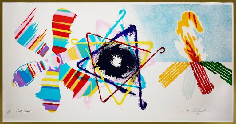 Fast Feast (Abstract geometrical multicolored lithograph from 1977) - Print by James Rosenquist