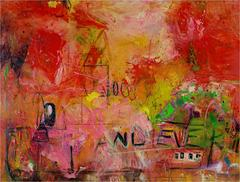 Forever & Ever (contemporary abstract expressionist oil painting on masonite)