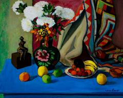 Mexican Still Life with Sculpture (oil on canvas)