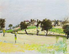 Umbria (landscape pastel by Wolf Kahn)