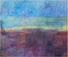 """Everyone Has Gone,"" an Abstract Oil on Canvas signed by Deidre Schanen"