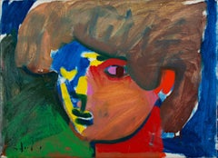 """Pan,"" a Colorful Expressionist Oil Painting signed by Matthew Schaefer"