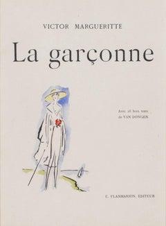 """Woman at the Seaside -La Garconne Series,"" a Color Pochoir by Kees van Dongen"