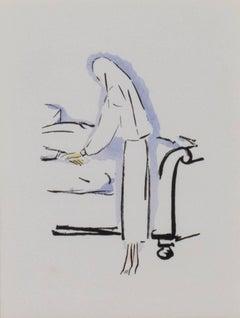"""Say a Prayer -La Garconne Series,"" a Color Pochoir by Kees van Dongen"