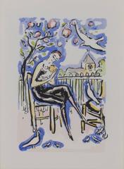 Mother & Child -La Garconne Series (Mere et Enfant) color pochoir