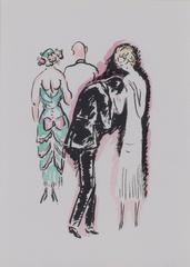 The Night Out - La Garconne Series (La Soiree) color pochoir