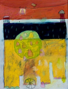 """""""Emma,"""" a Multicolored Acrylic on Paper signed and dated by Karen Hoepting"""