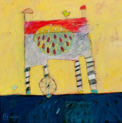 """""""Harriet,"""" a Whimsical Acrylic on Paper Signed and Dated by Karen Hoepting"""