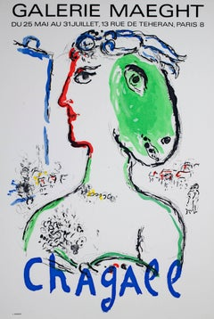 """""""L'Artist Phoenix Poster,"""" an Original Colored Lithograph Poster by Marc Chagall"""