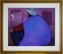 """Descanso, Peru (Woman),"" an Oil on Jute signed by Ernesto Gutierrez"