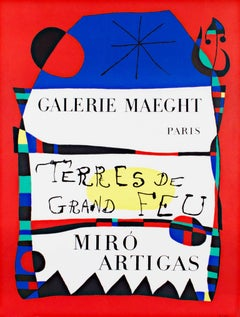 """Terres de Grande Feu, Miró-Artigas,"" an Original Color Poster by Joan Miró"