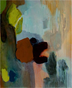 """""""Title Controversy,"""" an Abstract Oil on Wood signed by Ananda Kesler"""