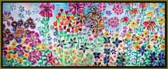Perennial Panorama with Multi-flavored Taffy Flowers