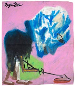 """Archaeology Seeker,"" an Oil Pastel signed by Reginald K. Gee"