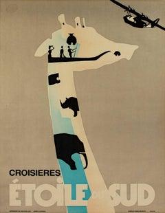 """""""Croisieres Etoile Du Sud,"""" an Original Color Lithograph by Berny Et Peignot"""
