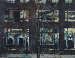 """The Free Press-Composition,"" a Watercolor signed by Joseph Ferrara"
