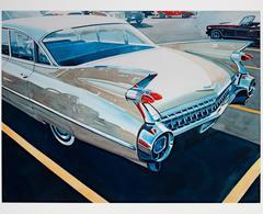 """'59 Cadillac,"" original watercolor by Bruce McCombs"