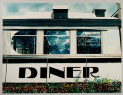 """""""Diner,"""" a Realist Watercolor signed by Bruce McCombs"""