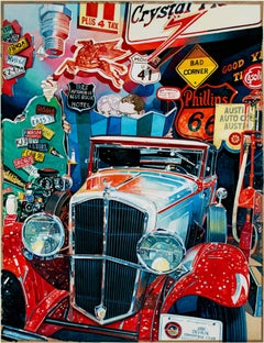 """""""Car Museum,"""" a Watercolor signed by Bruce McCombs"""