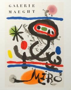 """Galerie Maeght Miro Maqght Editeur Imprimeur"" an Original Litho by Joan Miro"