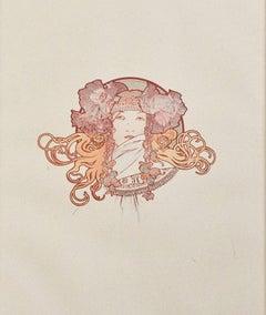 """Sarah Bernhardt from Ilsee, Princesse de Tripoli,"" Original Color Lithograph"