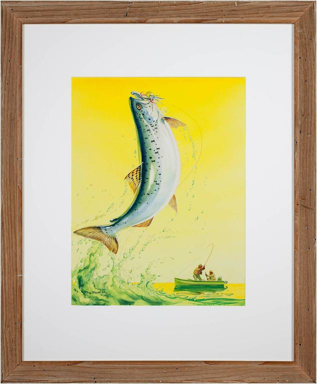 Tom Rost - Catching A Fish For Sale at 1stdibs