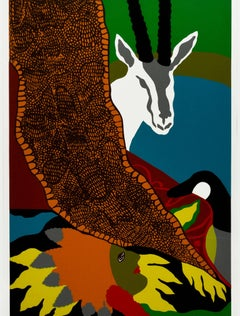 """Anaconda II,"" a Original Color Serigraph signed by Hunt Slonem"