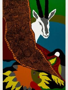 """Anaconda II,"" a Original Color Serigraph signed by Hunt Slonem"