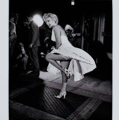 """Marilyn Monroe NYC 1954 Seven Year Itch,"" Photograph signed by George Zimbel"