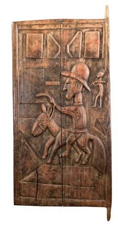 """""""African Baule Colonial Door,"""" Carved Wood created in 1930"""