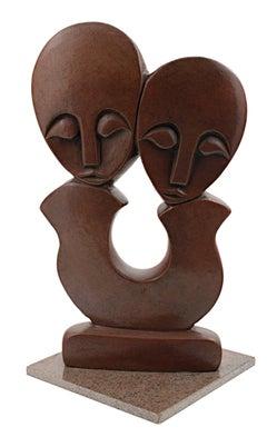 """Creation/Lovers,"" Red Jasper Sculpture from Africa circa 2001"