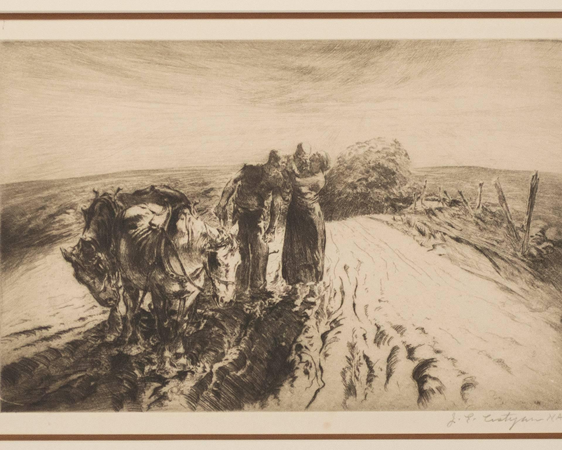 """""""When Day is Done,"""" an Original Etching signed by John Edward Costigan"""