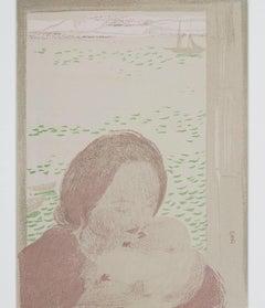 """""""Maternite Devant La Mer,"""" Color Lithograph Portrait by Maurice Denis"""