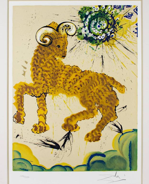 Salvador Dalí Animal Print - Signs of the Zodiac Series: Aries