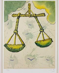 """Signs of the Zodiac Series: Libra,"" an Original Litho signed by Salvador Dali"