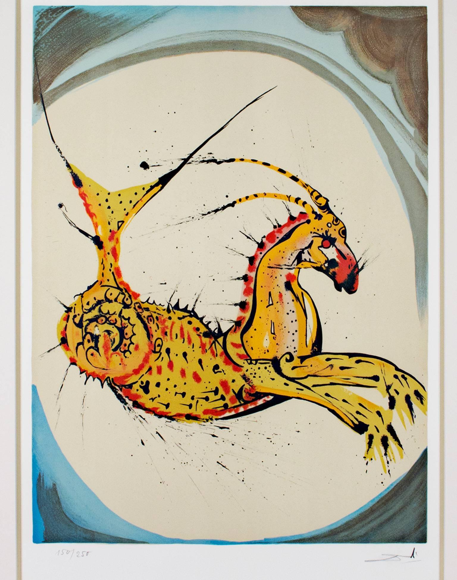 """Signs of the Zodiac Series: Capricorn"" a Original Litho signed by Salvador Dalí"