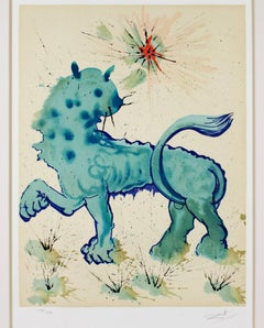 """Signs of the Zodiac Series: Leo,"" Original Color Lithograph signed by Dali"