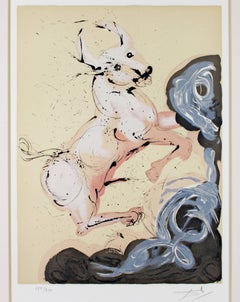 """""""Taurus"""" from Signs of the Zodiac Series, Original Color Litho signed by Dali"""