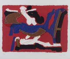 Cheveaux Et Cavalier (Horse & Rider) VI (Black, Red, Blue, White)