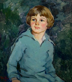 """Bright Eyes,"" an Oil on a Canvas Board signed by Pauline Palmer"