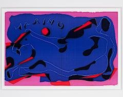 """""""Two Horses from Homage to Marino Marini,"""" an Original signed by Marino Marini"""